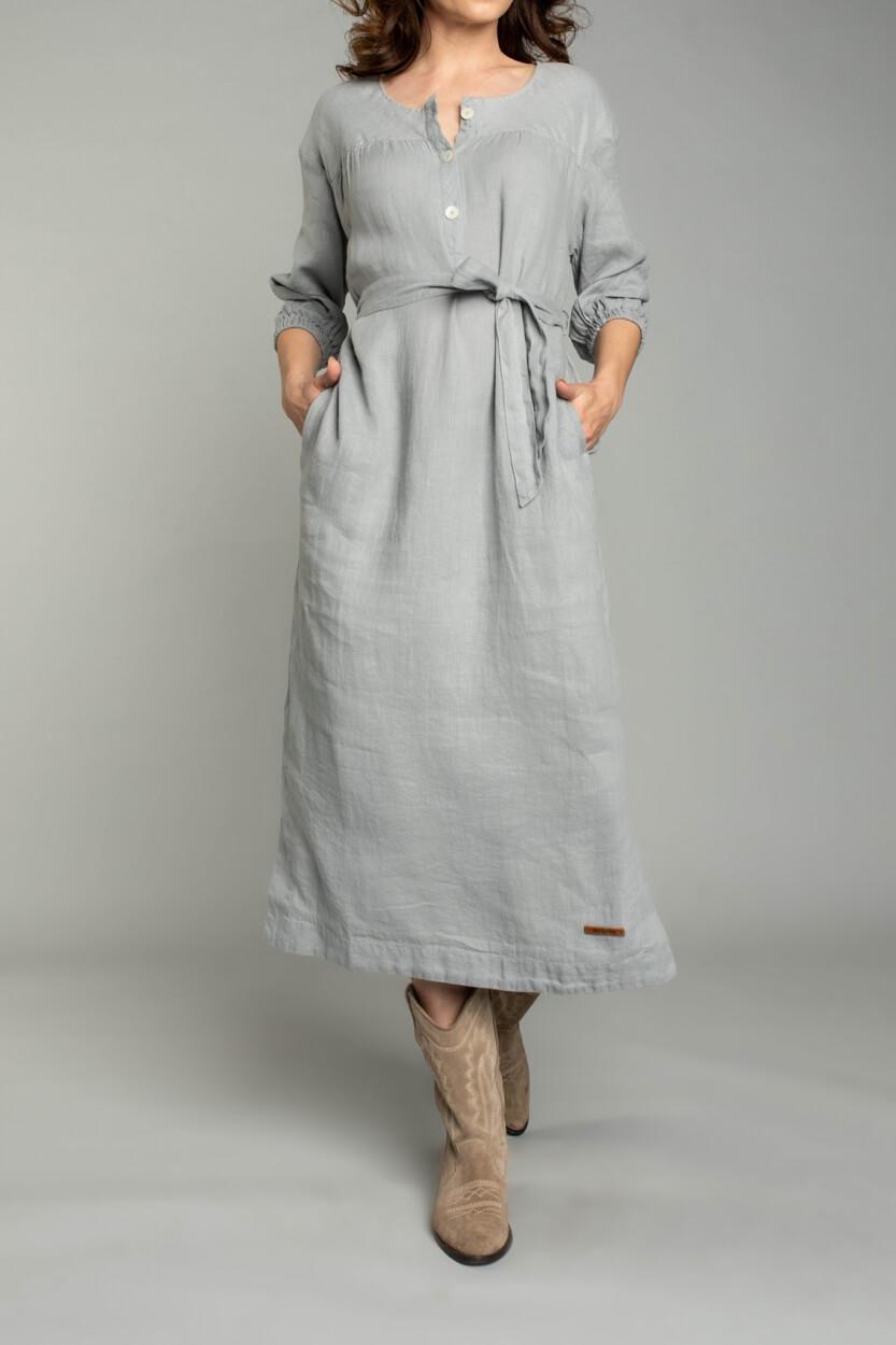 Moscow Dames Moonbeam dress Grijs