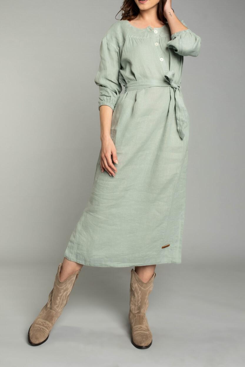 Moscow Dames Moonbeam jurk Groen