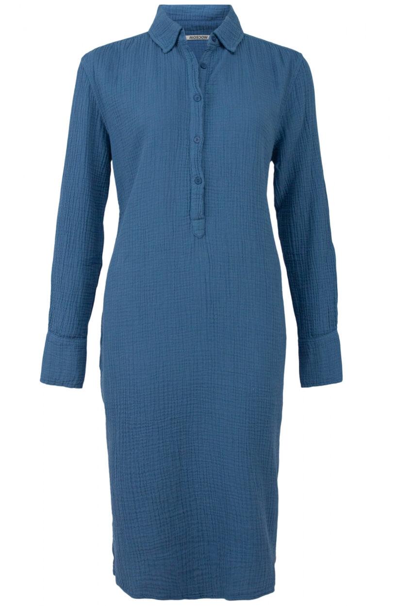 Moscow Dames Beloved dress Blauw