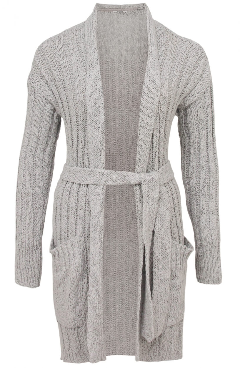 Moscow Dames Feather cardigan Grijs
