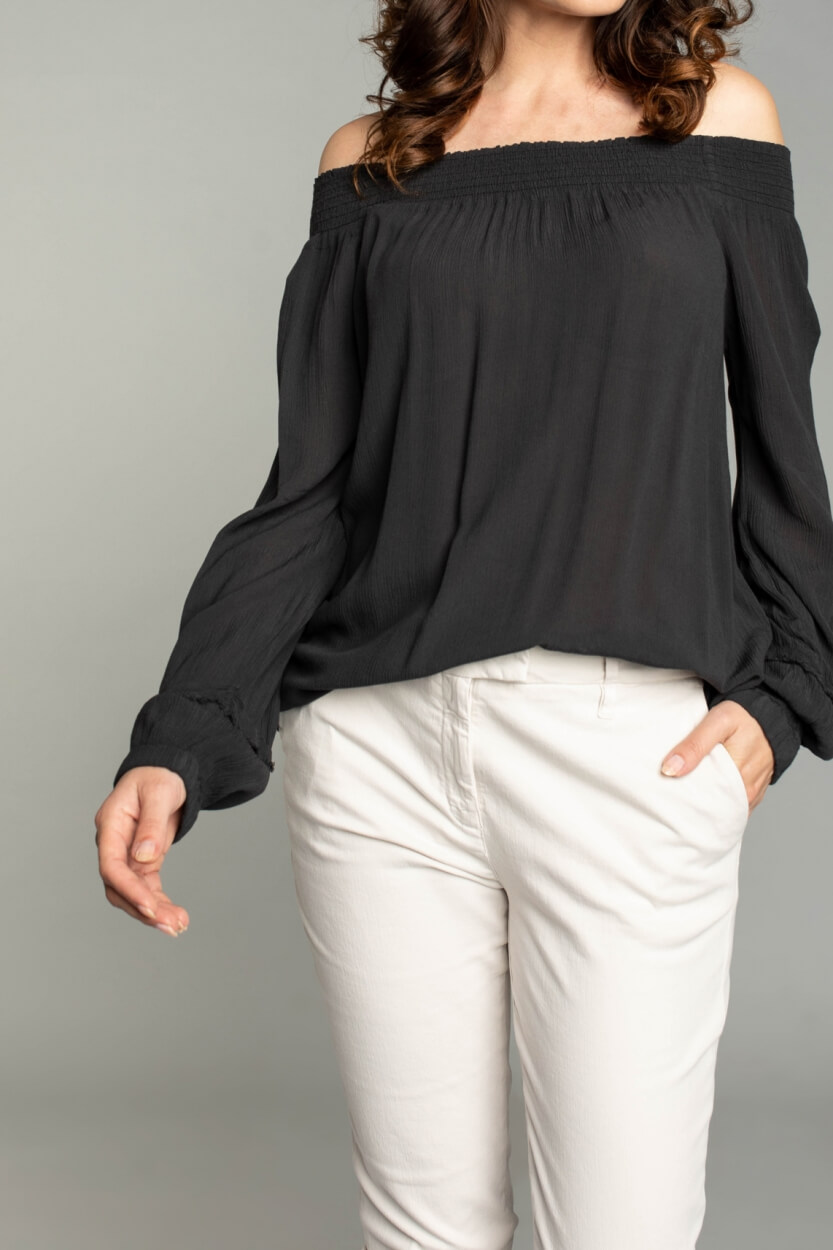 Moscow Dames Starlight blouse Grijs