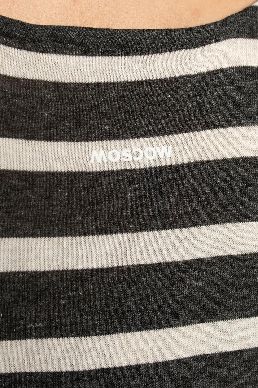 Moscow Dames Besty gestreept shirt Grijs