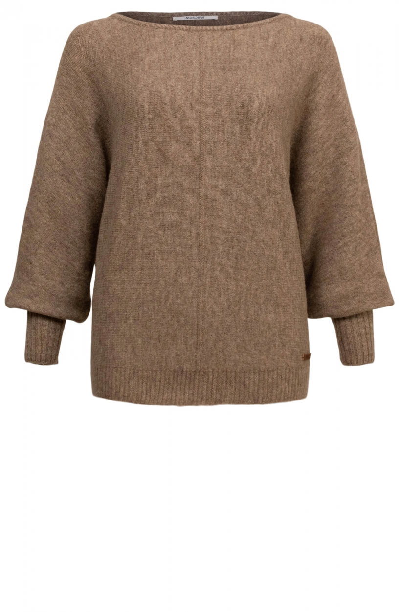 Moscow Dames Sweater Azalea Bruin