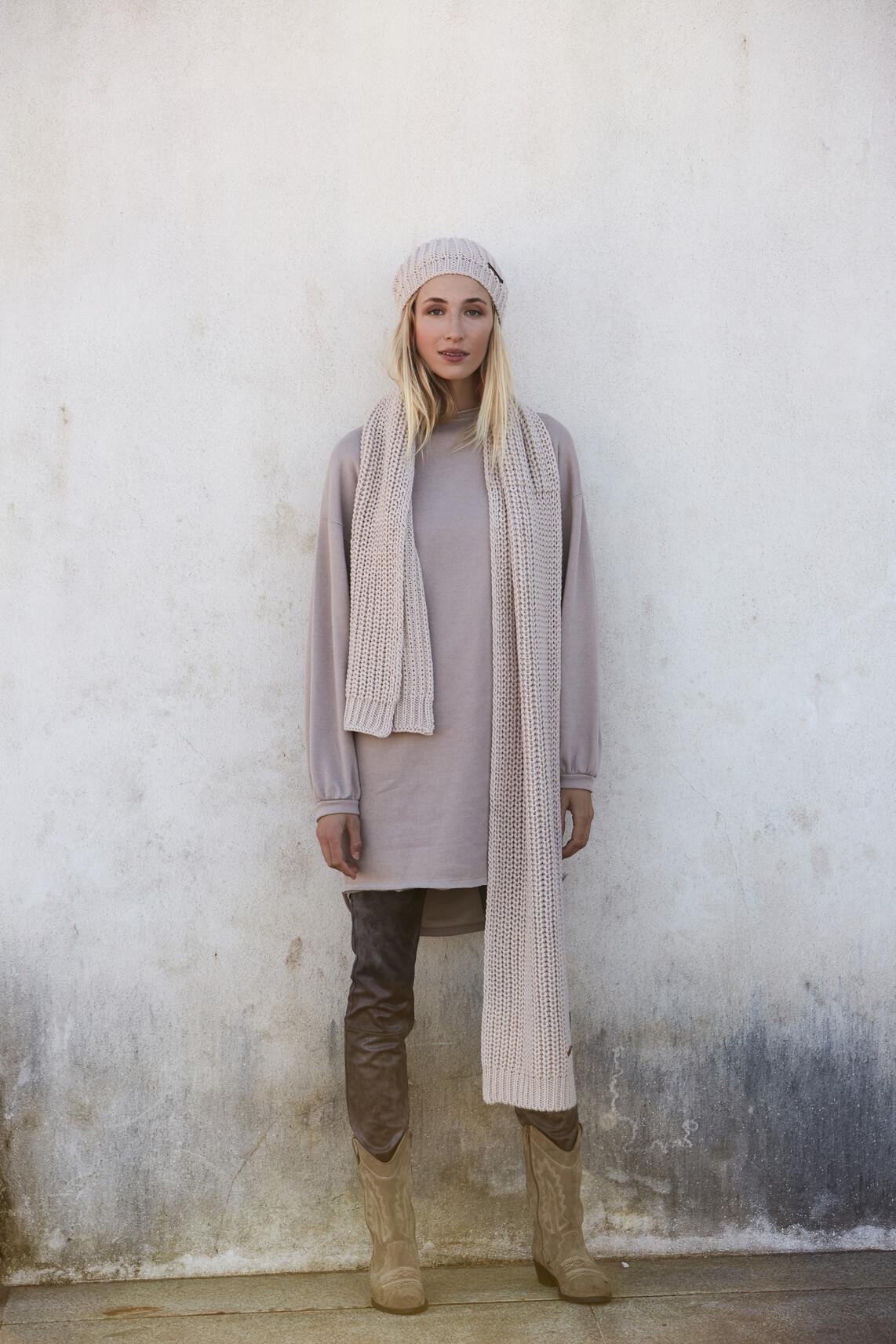 Moscow Dames Gebreide sjaal Wit