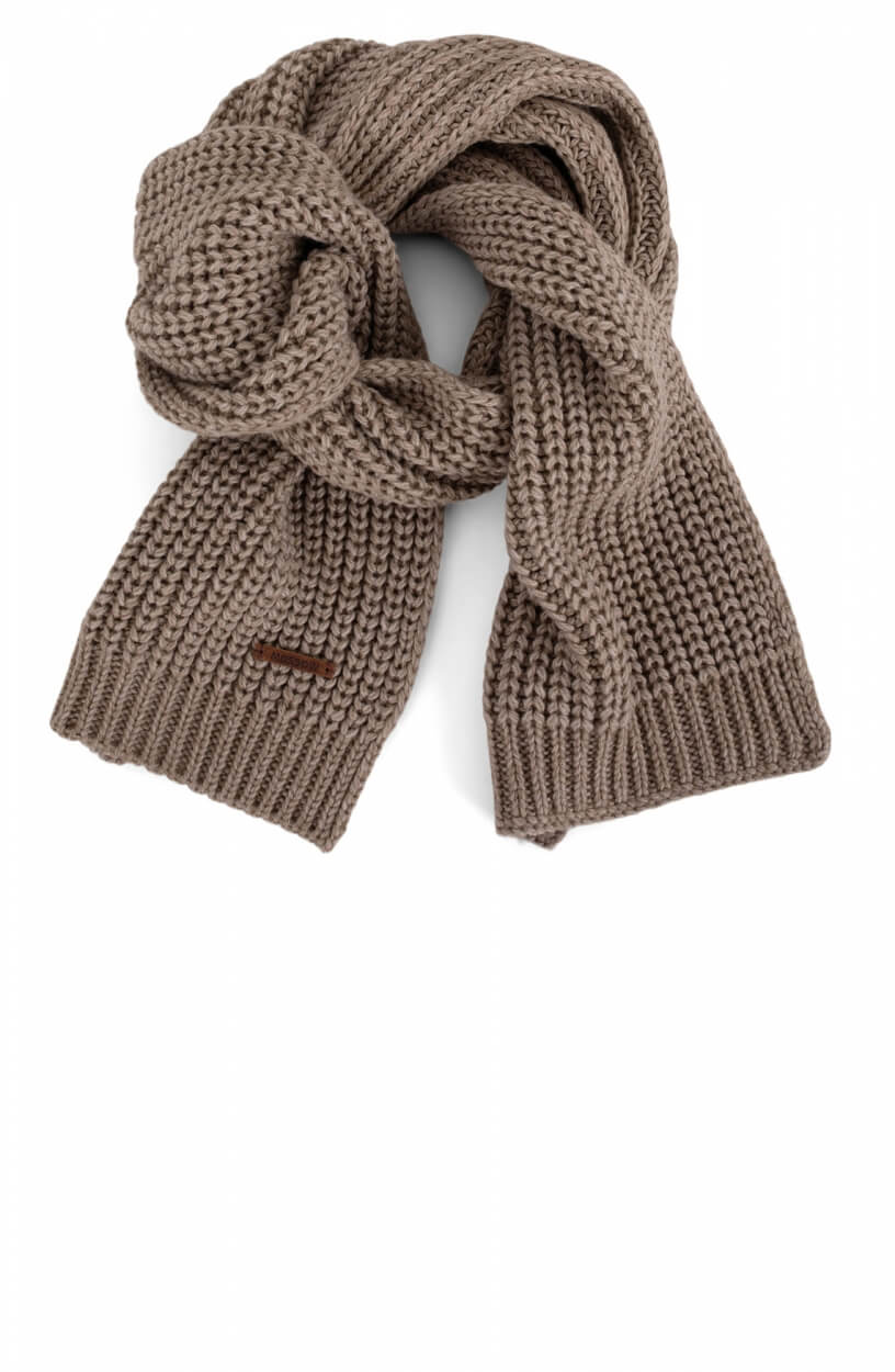 Moscow Dames Gebreide sjaal Bruin