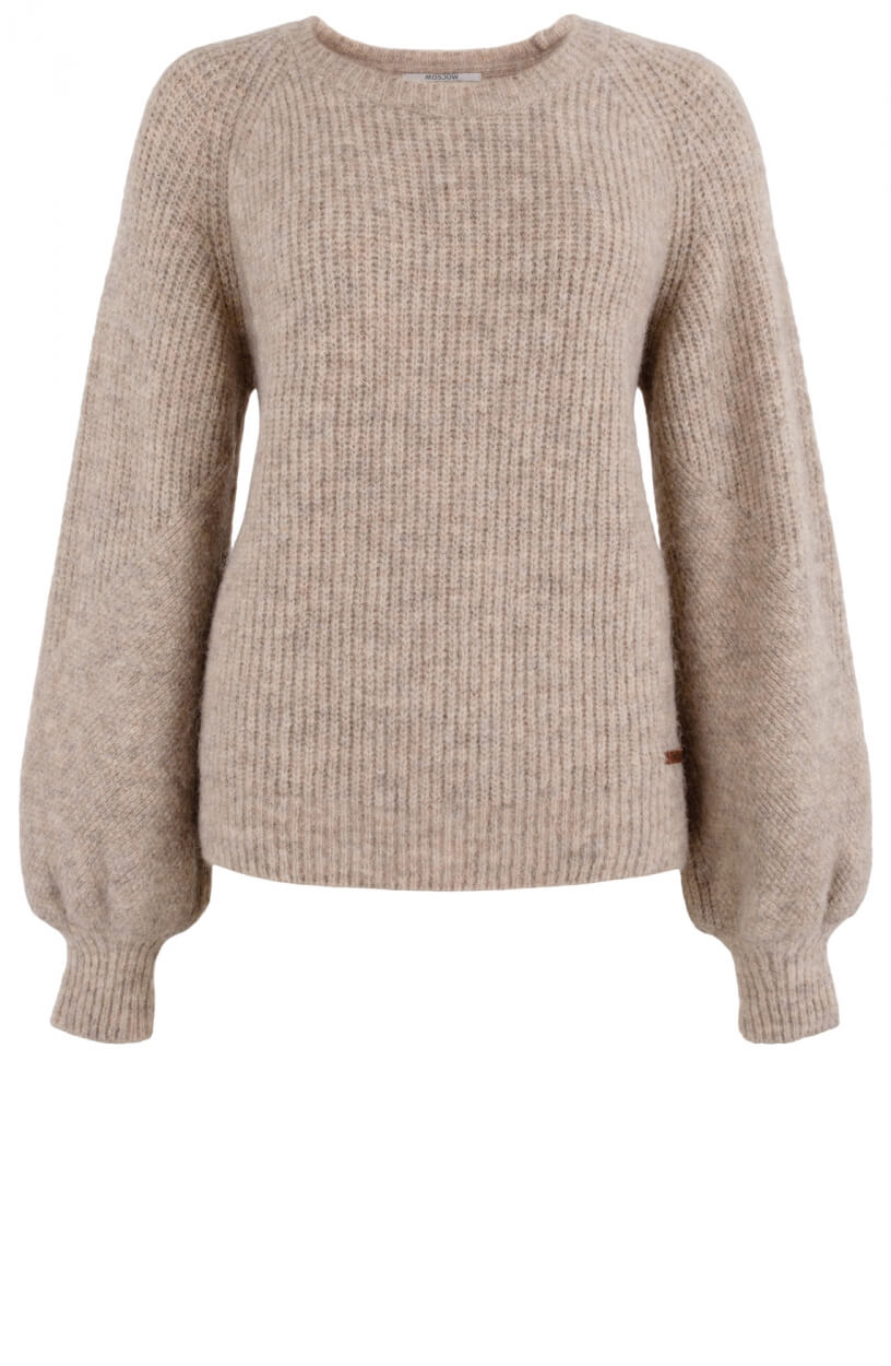 Moscow Dames Sweater Piper Wit
