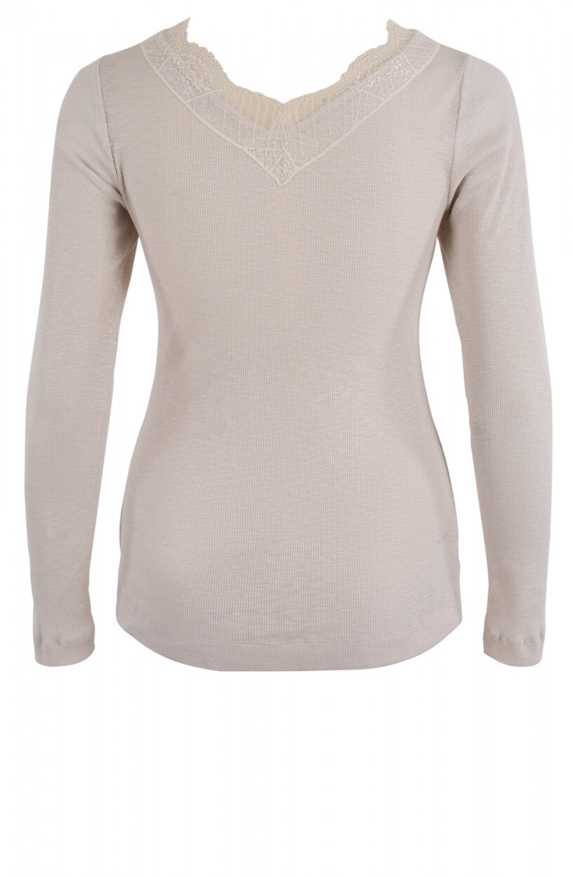 Moscow Dames Lace shirt Wit