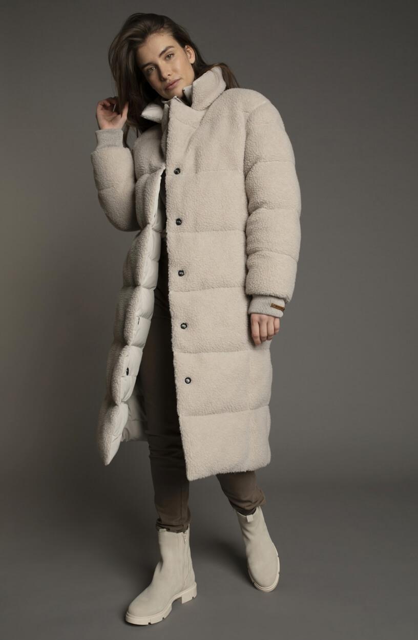 Moscow Dames Coat Mia Ecru