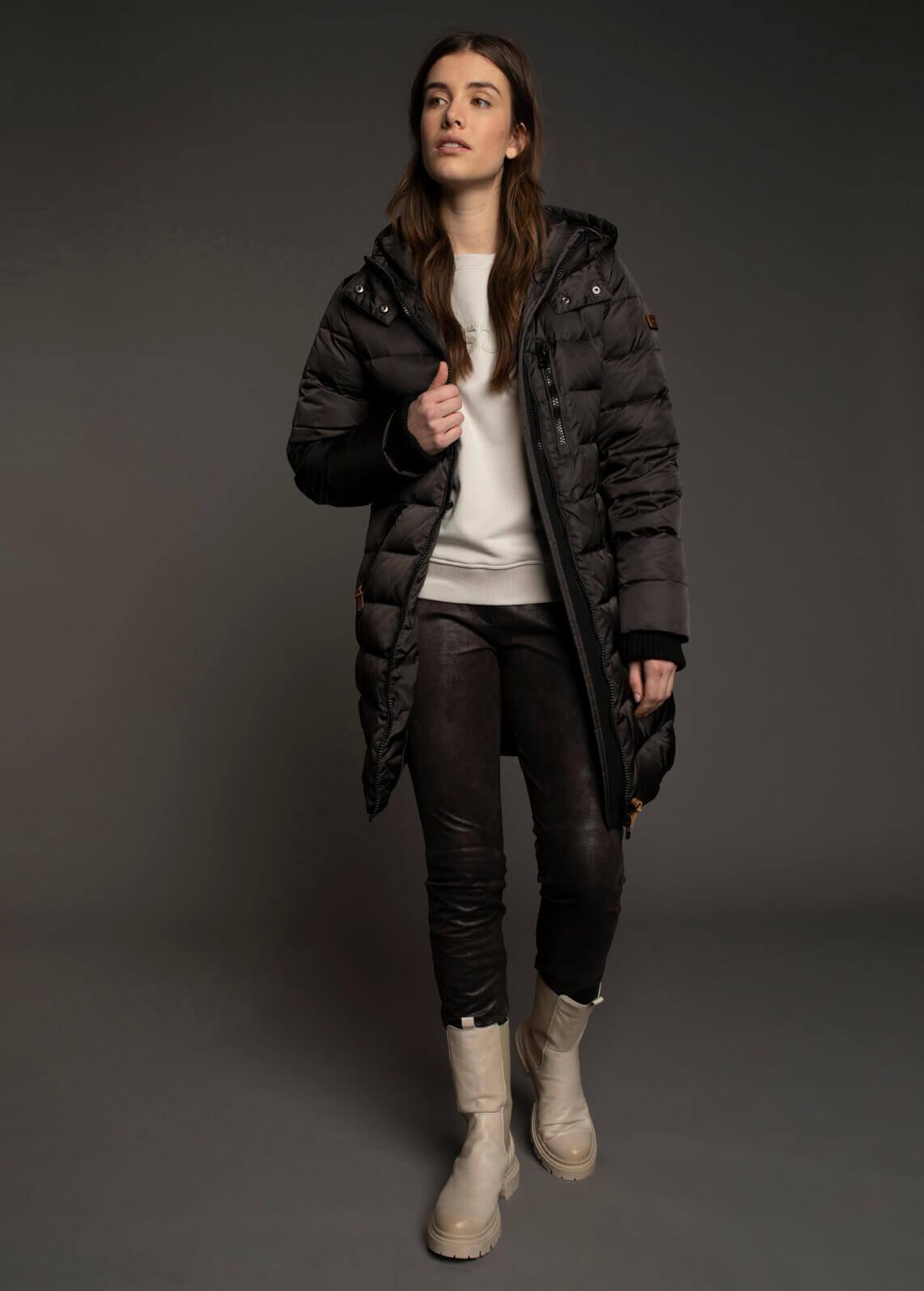 Moscow Dames Coat Abigail Zwart