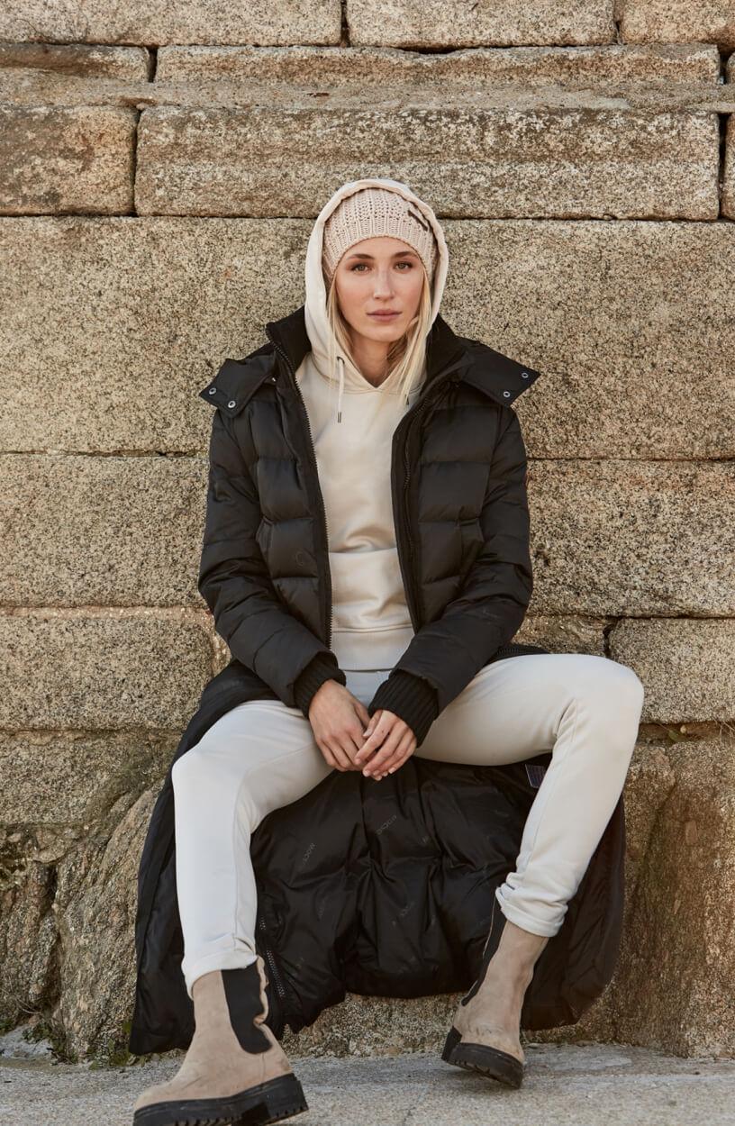 Moscow Dames Coat Marciana Zwart