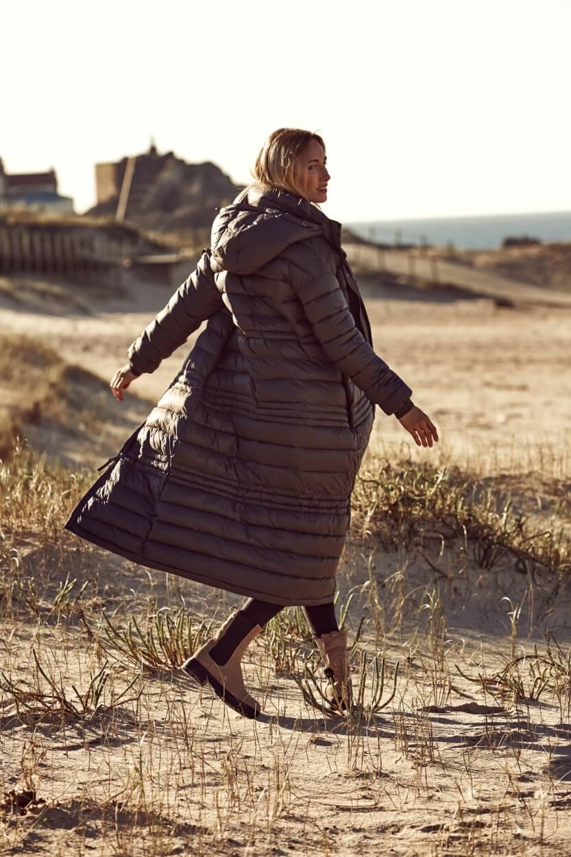 Moscow Dames Coat Nora Grijs
